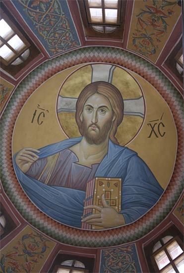 Христос Пантократор под куполом Пущинского Михайлоархангельского храма