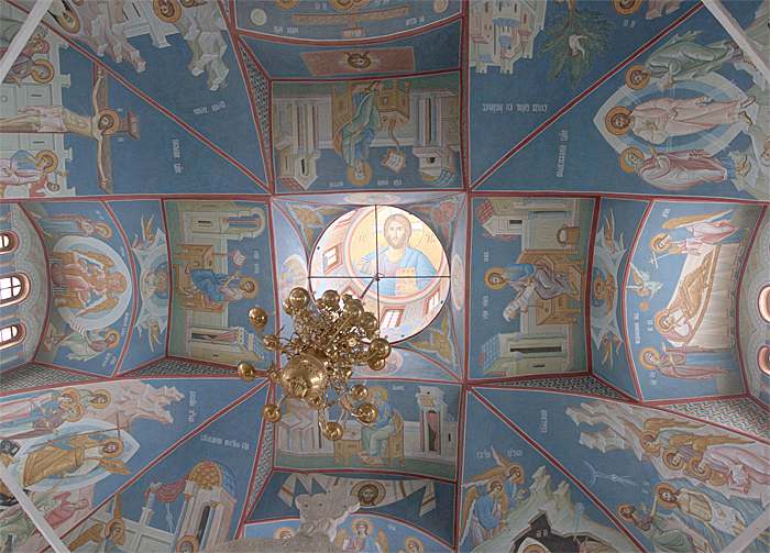 Роспись свода Пущинского храма