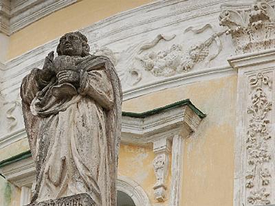 Скульптура апостола Иоанна. Храм Рождества Богородицы в Подмоклово