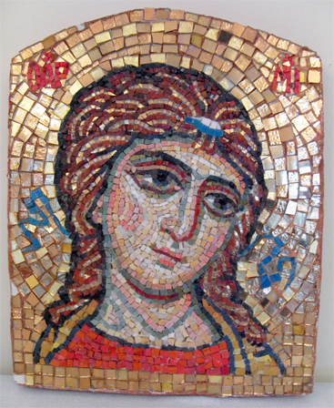 Ангел Златые власы на Святых вратах Пущинского храма