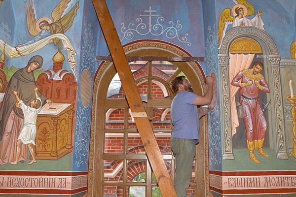 Историческая надпись в Пущинском храме