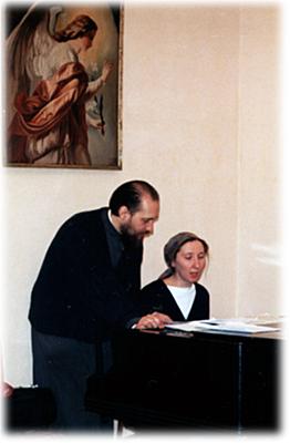 Священник Дионисий Крюков и матушка Татьяна Крюкова