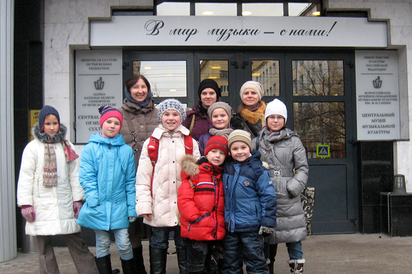 "Участники хора ""Вертоград"" в Музее музыки"