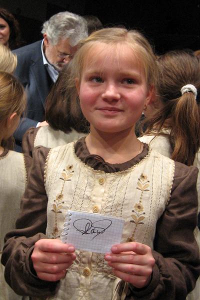 Аня с автографом