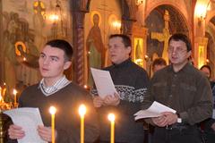 Благодарственный молебен на Епархиальных Библейско-богословских курсах
