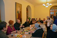 Благодарственный молебен на Библейско-богословских курсах