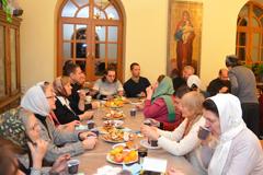 Молебен на Библейско-богословских курсах