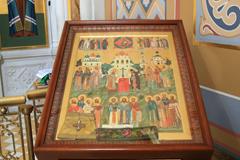 Пущинские паломники в храме 3-х святителей Коломенской духовной семинарии