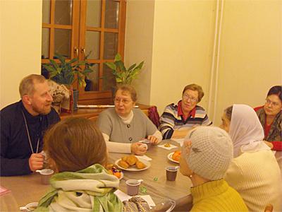 Чаепитие после Молебна 29.12.10