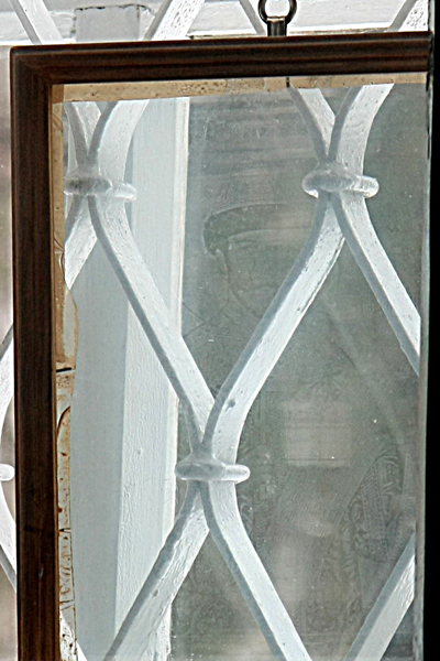 Образ свт. страстотерпца царя Николая на стекле в храме Параскевы Пятницы