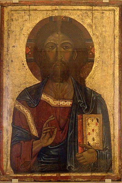 Икона сер. XIII в. Ростовского мастера «Спас Вседержитель»