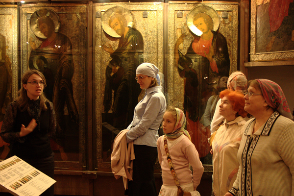 В музее имени Андрея Рублева