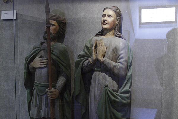 Деревянная скульптура в Музее имени Андрея Рублева