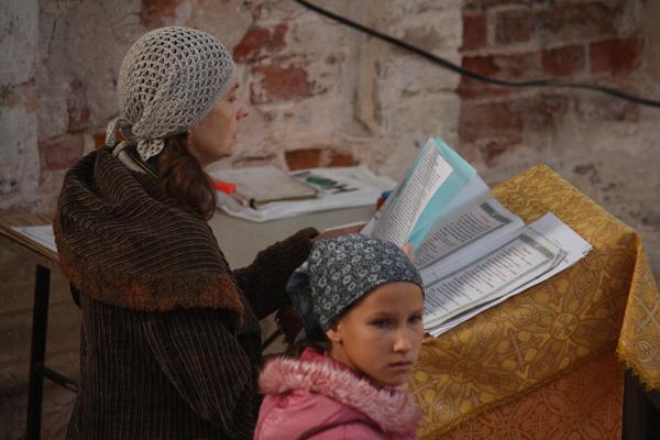 Чтение истории праздника Рождество ПресвятойБогородицы