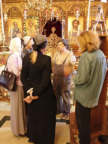 Встреча с иконописцами из России в храме свщмч Киприана и мц Иустины