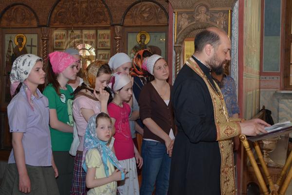 Молебен на начало лагерной смены