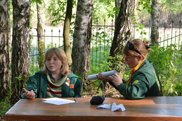 Нижегородские вожатые в Вертограде. Две Наташи