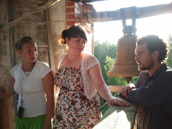 Нижегородские вожатые на колокольне Пущинского храма