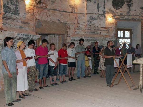 Молитвенное правило в трудовом лагере в Подмоклово