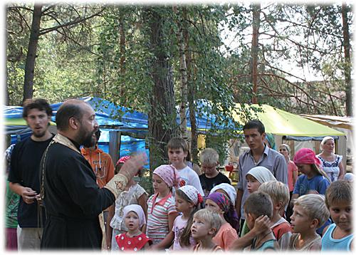 Православный лагерь Вертоград 2010 Молебен