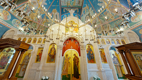 Панорама Михаило-Архангельского храма г.Пущино