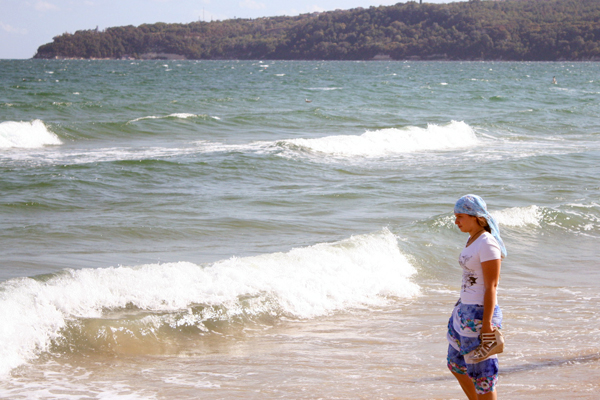 Море теплое и дружелюбное.
