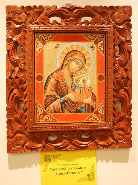 Выставка вышитых копий русских чудотворных икон в Варне