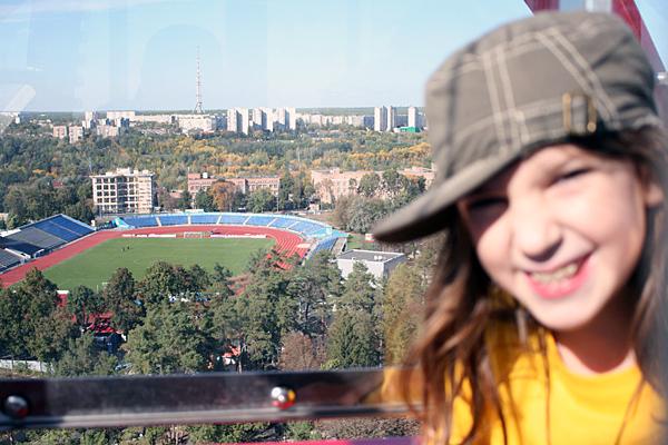 На колесе обозрения в Харькове