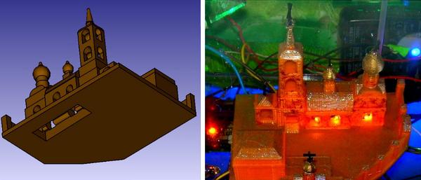 "Стол с панорамой ""Пущино-2056"""