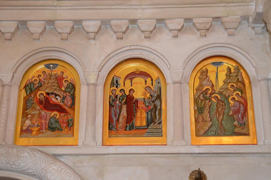 Иконы праздничного ряда иконостаса Пущинского храма