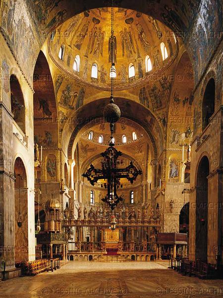 """Светильник (паникадило) """"Крест"""" в соборе Сан Марко"""