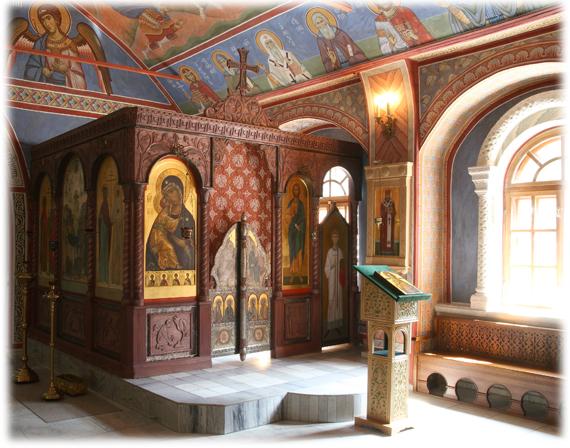 Успенский придел Пущинского храма