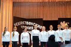 """Рождественская песня в исполнении хора гимназии """"Пущино"""""""