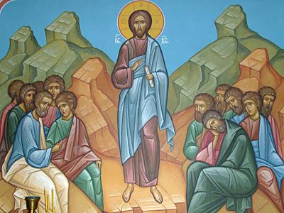 Нагорная проповедь. Роспись в Богоявленском Красносельском храме