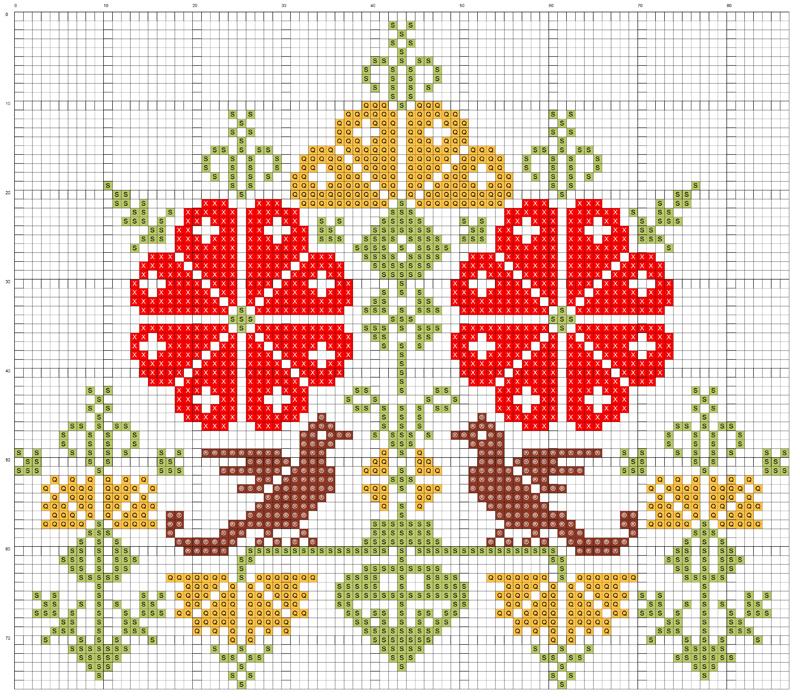 Вышивка орнамент схемы 17
