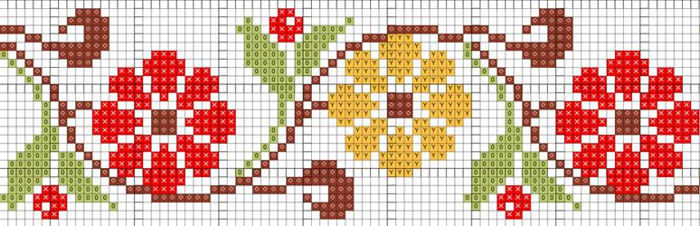 Орнамент для вышивки крестом схемы