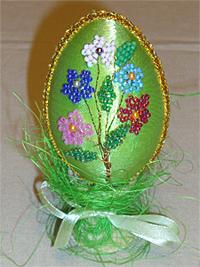 Пасхальное яйцо Бисероплетение