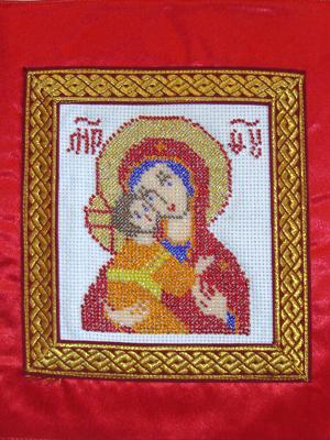 Владимирская икона (вышивка бисером)