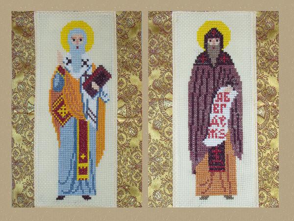 Равноапостольные Кирилл и Мефодий (вышивка крестом)