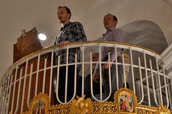 Петр на клиросе Свято-Георгиевского храма г. Пермь