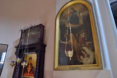 """Икона """"Покров"""" из Нарвского Воскресенского собора со следами от пуль"""