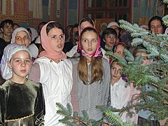 Рождественская служба в Михаило-Архангельском храме