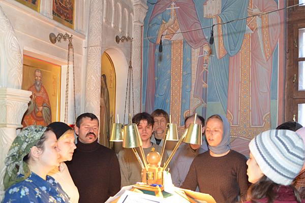 26.02.2012 Чин прощения в Пущинском храме
