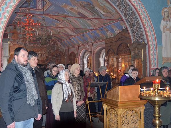 Пассия в Пущинском храме