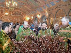 Вербное воскресение в Пущинском храме 2012
