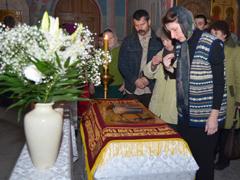 Вынос плащаницы в Пушинском храме