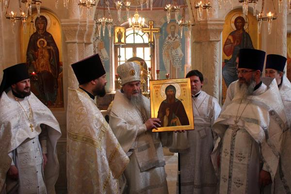 Пущинскому приходу подарена икона прп. Афанасия Высоцкого