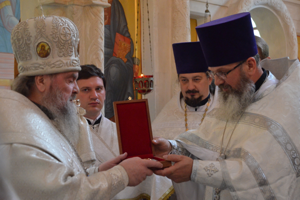 Вручение панагии владыке Григорию
