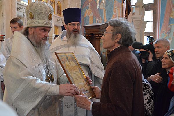 Награждение приходского старосты Андреева Сергея Николаевича