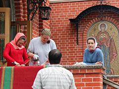 Подготовка к освящению храма